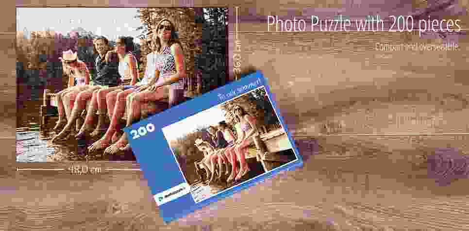 200 pieces photo puzzle
