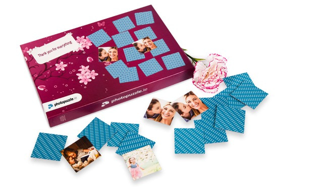 Personalised photo pairs game for Mothering Sunday