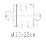 Size of the pieces  -  photo puzzle 200 pieces
