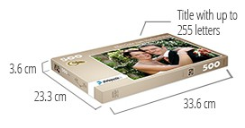 Size of the puzzle box - photo puzzle 500 pieces