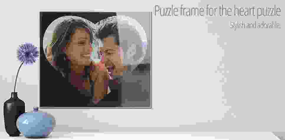 Puzzle frame 600 pieces heart
