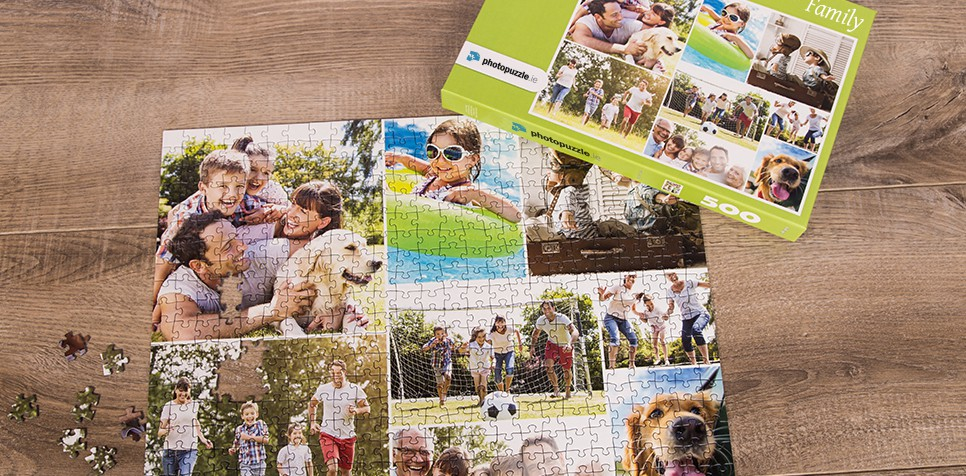 Photo Puzzle with Simple grid collage