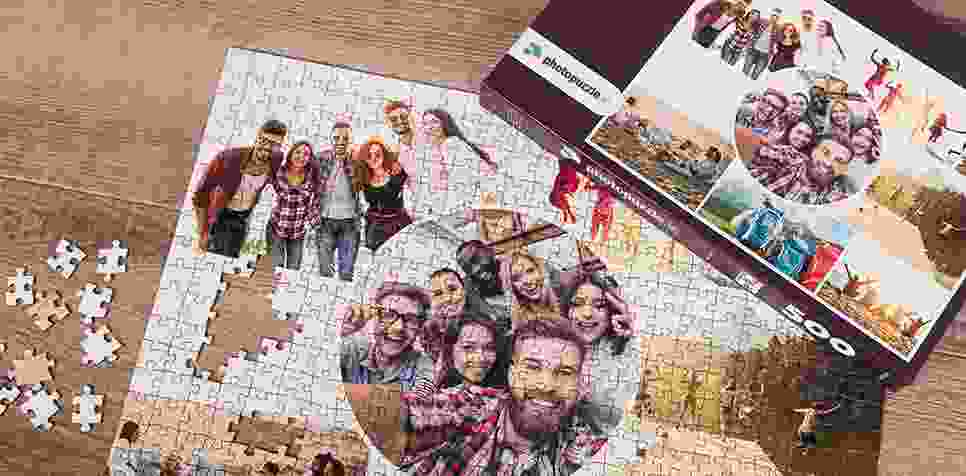 Photo Puzzle with Artistic grid collage