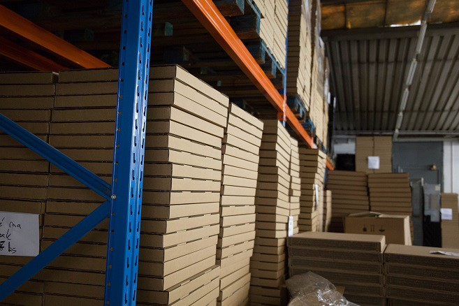 A glimpse into our high rack warehouse