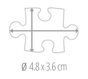 Size of the pieces  -  photo puzzle 100 pieces