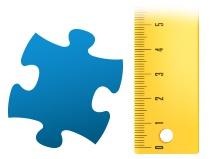 Size ratio puzzle piece photo puzzle 100 pieces
