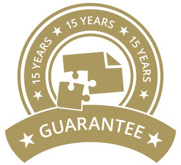 15-Year Guarantee on jigsaw puzzles