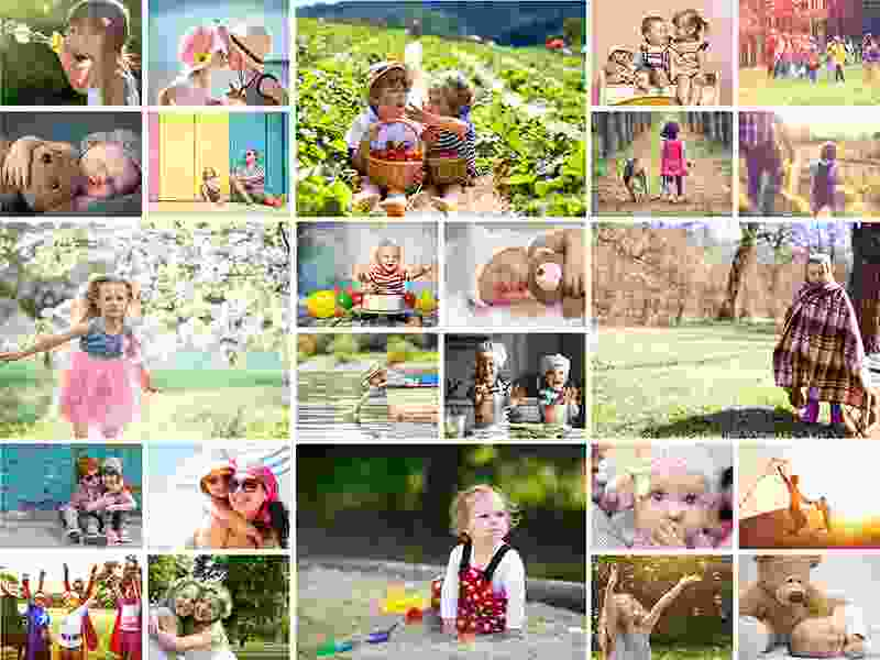 Photo Puzzle with Simple grid collage 24 Photos