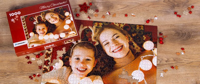 Create your personal photo puzzle as Christmas present